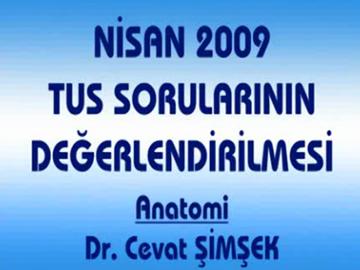 Nisan 2009 TUS - Anatomi