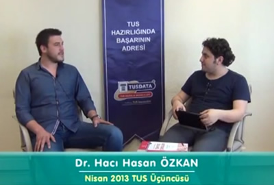 Dr. Hacı Hasan ÖZKAN - Nisan 2013 TUS 3.'cüsü